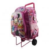 Minnie reiziger wielen travelbag roos 40 CM hoog - Binder