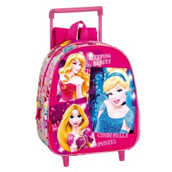 Mochila con ruedas nativo Princesas Disney 28 CM - Trolley escolar