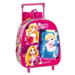 Sac à dos à roulettes maternelle Princesse Stars 28 CM trolley - Cartable