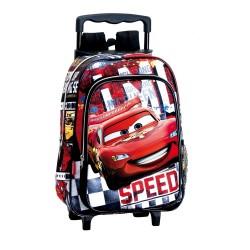 Sac à dos à roulettes maternelle Cars Disney Speed 37 CM trolley - Cartable