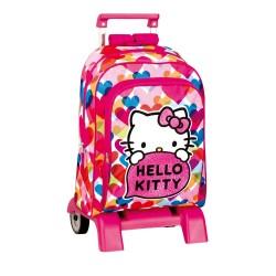 Sac à dos à roulettes  Hello Kitty  Pretty 43 CM  trolley -Haut de Gamme - Cartable