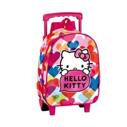 Mochila con ruedas materna Hello Kitty Pretty 28 CM - Trolley escolar