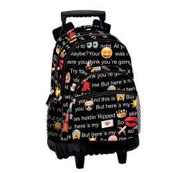Rugzak skateboard Emoji praten 42 CM trolley premium - Binder
