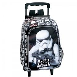 Sac à dos à roulettes maternelle Star Wars Trooper 37 CM trolley - Cartable
