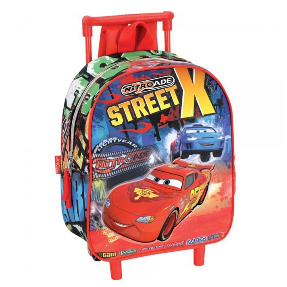 Sac à dos à roulettes maternelle Cars Disney Street 28 CM trolley - Cartable 6b743f2f005c