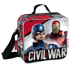 Sac goûter Captain America Civil War 21 CM - sac déjeuner