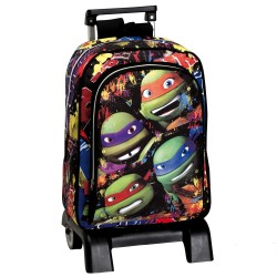 Sac à dos à roulettes Tortue Ninja Together 43 CM trolley Haut de Gamme - Cartable