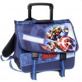 Cartable à roulettes 41 CM Avengers Bleu Haut de gamme