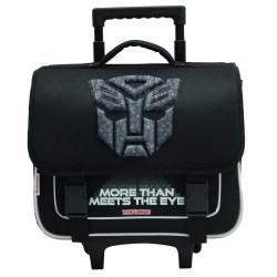 Cartable à roulettes Transformers Optimus Noir 38 CM Trolley Haut de gamme - Cartable