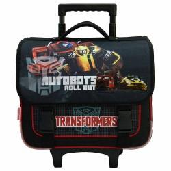 Cartable à roulettes Transformers Autobots Noir 38 CM Trolley Haut de gamme - Cartable