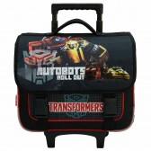 Patín de mochila Transformers Optimus Negro 38 CM carro High-End - Binder