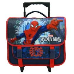 Cartable à roulettes Spiderman bleu 38 CM Trolley - Cartable