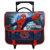 Cartable à roulettes Spiderman bleu 38 CM Trolley - Cartable