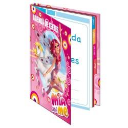 Agenda Mia et moi 21 CM Rose - Cahier de texte