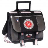 Cartable à roulettes New york Yankees Trolley Noir 41 CM Haut de gamme