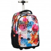 Sac à roulettes Maui & Sons Flowers 48 CM type cartable