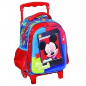Sac à roulettes Mickey trolley maternelle 31 CM - Cartable