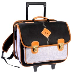 41 CM Feather black high-end - boy wheeled backpack