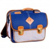 Schultasche 38 CM Feder blau High-End - Mädchen