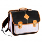 Schooltasje high-end - Feather Navy 38 CM jongen