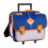 41 CM Feather Navy high-end - boy wheeled backpack