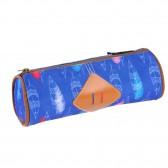 Trousse ronde Feather 22 CM Rose ou bleu - Fille