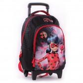 Sac à roulettes 45 CM Ladybug Miraculous Haut de gamme Trolley - Cartable