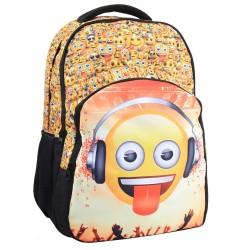 Sac à dos 46 CM Emoji Smile Haut de Gamme