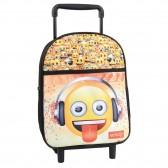 Sac à roulettes Emoji 34 CM maternelle - Cartable