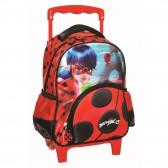 Sac à roulettes trolley maternelle Ladybug Miraculous 31 CM - Cartable