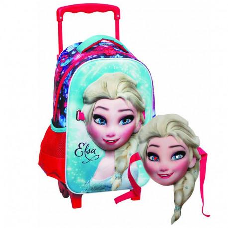 Sac à roulettes maternelle La reine des neiges Elsa 31 CM - Cartable Frozen