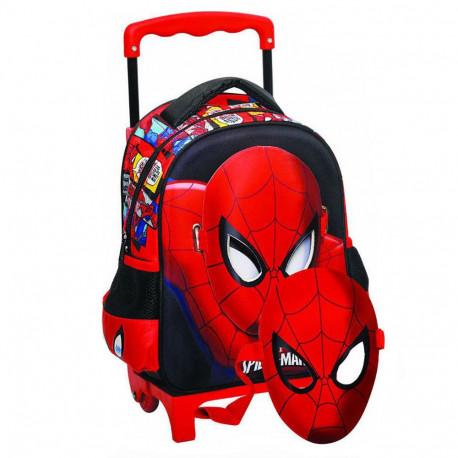 Sac à roulettes trolley maternelle Spiderman Comics 31 CM - Cartable