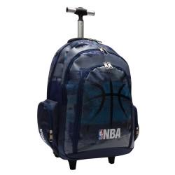 Mochila con ruedas NBA Black Ball 45 CM - Trolley escolar