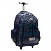 Mochila con ruedas Trolley escolar NBA Black Ball 45 CM - Bolsa