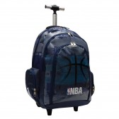 Cartable à roulettes NBA Basket 45 CM Black Ball Haut de gamme