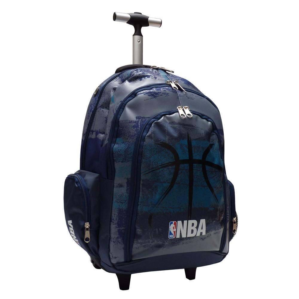 Cartable à roulettes NBA Basket 45 CM Black Ball Haut de gamme d636afe74a90