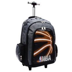 Cartable à roulettes NBA Basket 45 CM Black Neon Haut de gamme