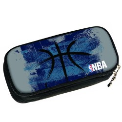 Trousse ovale NBA Black Ball 21 CM - 2 Cpt