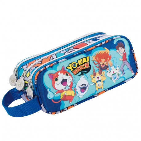 Trousse yo kai watch team 23 cm 3 compartiments yokai for Salle de bain yo kai watch 2