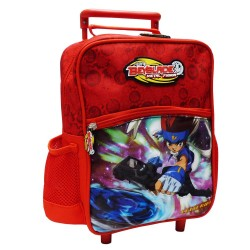Sac à roulettes Beyblade maternelle rouge trolley 30 CM - Cartable