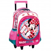 Sac à roulettes Minnie Rose 43 CM Trolley - Cartable
