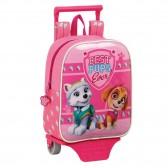Pat patrol Girl 27 CM rolling bag kindergarten upscale - Binder Paw Patrol
