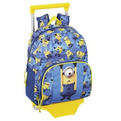 Rolling Maternal Backpack Minions 34 CM - Premium Trolley