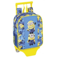 Rolling Maternal Backpack Minions 28 CM - Premium Trolley
