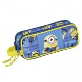 Trousse rectangle Minions Bleue - 2 cpt