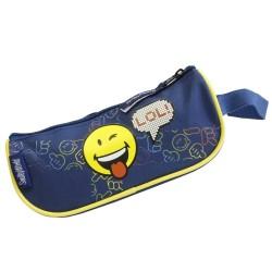 Trousse barque Smiley bleue LOL 22 CM
