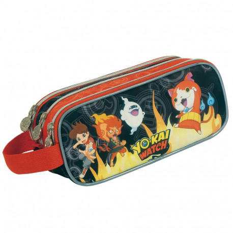 Trousse Yo-kai Watch Fire 23 CM - 3 compartiments - YOKAI