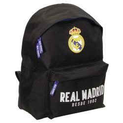 Mochila escolar Real Madrid negra 40 CM