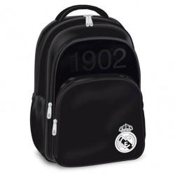 Sac à dos Real Madrid Black Edition 46 CM Haut de Gamme - 2 Cpt