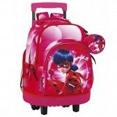 Sac à dos à roulettes Ladybug 45 CM trolley Haut de Gamme - Cartable
